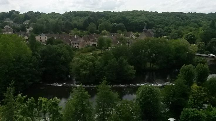 Vue sur la ville basse - Angles sur l'Anglin