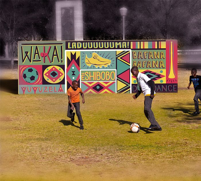 Balls to the Wall - a Pretoria based initiative to continue the South African legacy of unity through football by bringing sport and design together to continue promoting the support and love for one of our nation's greatest past times in one of the greatest capitals.