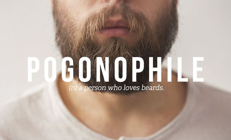 Pogonophile: A person who loves beards ::: +32 Totally Not Weird Non-Sexual Fetishes You Might Have