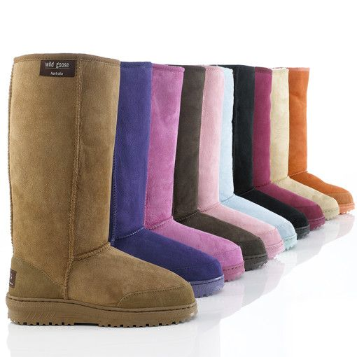 Premium Long Sheepskin Boots - made from 100 percent merino wool and sold at Aussie Products for $171. aussie-products also sells boots and ugg australia.