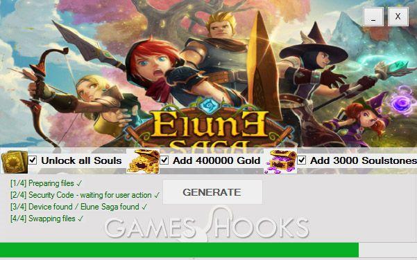 Elune Saga Hack (Gold, Soulstones)   Games Hooks