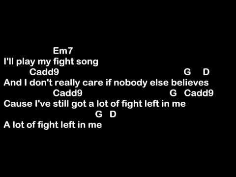 Fight Song - Rachel Platten Easy Guitar Chords