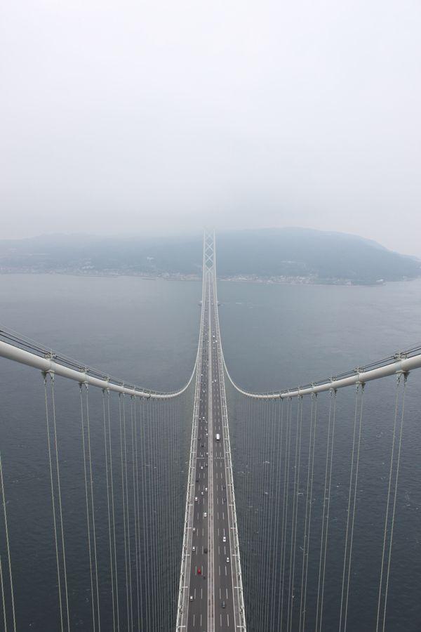 the background of the famous japan kaikyo bridge These 7 bridges show how far we've come in the past few thousand years   akashi kaikyo bridge, japan image getty imageskaku kurita.