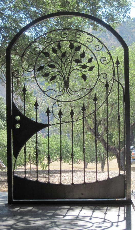 Outdoor wrought iron door
