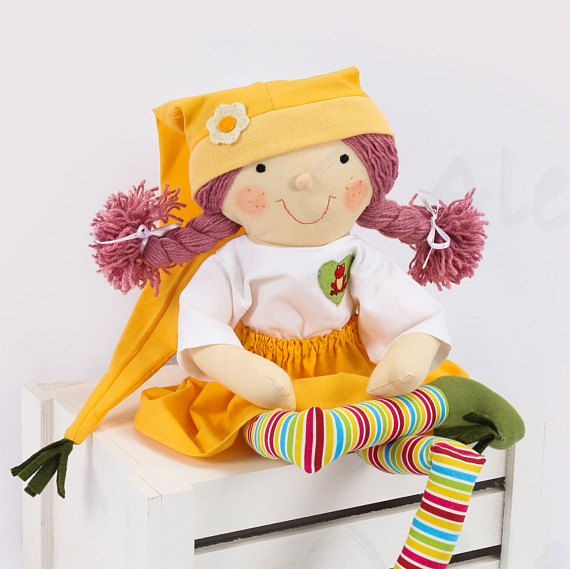 Summer elf made to order 24  One of a kind rag doll
