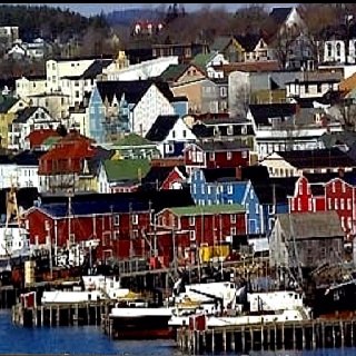 Lunenburg, Nova Scotia. #ridecolorfully