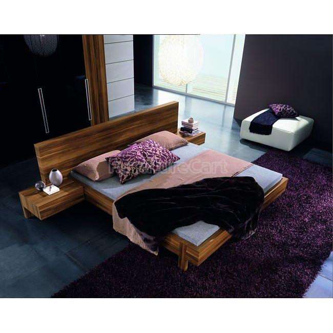 Best Gap Platform Bedroom Set Walnut Modern Platform Bed 400 x 300