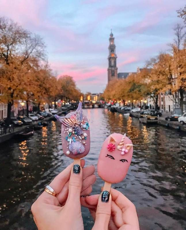 Polaberry Amsterdam Canals Unicorn And Mermaid Pops Amsterdam Photos Amsterdam Photography Amsterdam