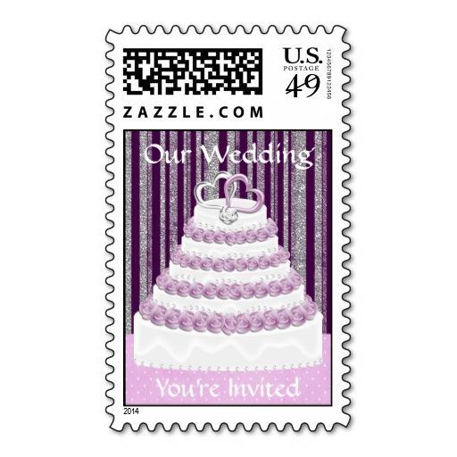 Wedding Cake Postage Stamp 2 This Is Customizable To Put A Personal