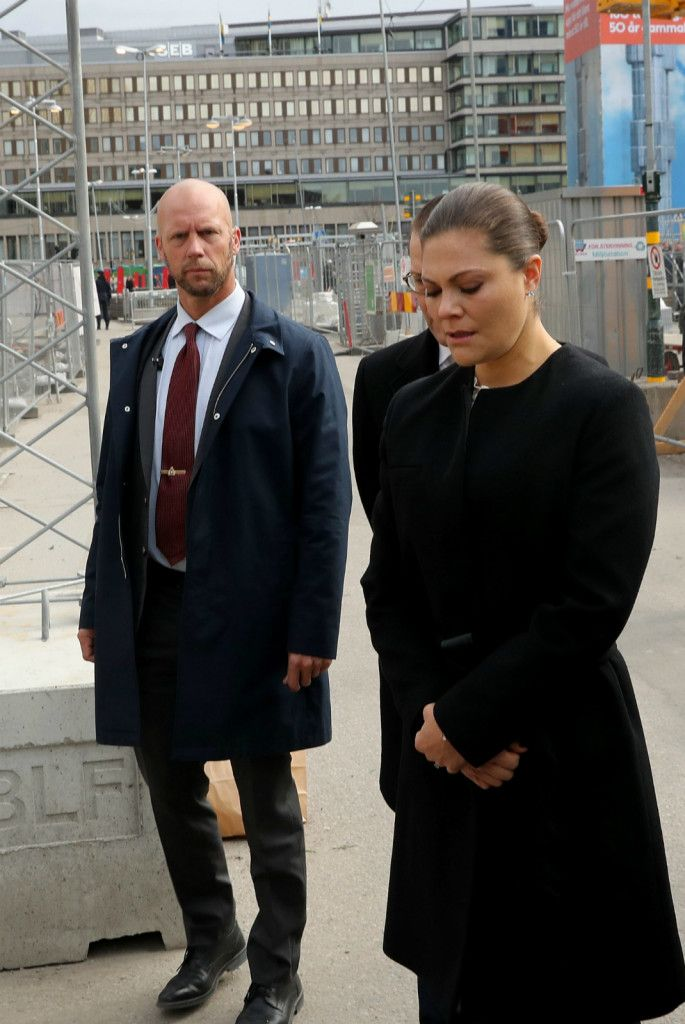 Crown Princess  Victoria and Prince Daniel  visited scene of Stockholm attack