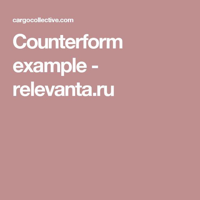 Counterform example - relevanta.ru