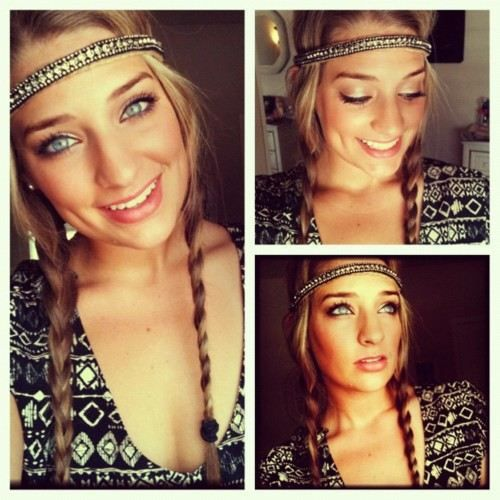 Fashion: Hipster Headbands : theBERRY looooove this!! I wouldn't wear it exactly like this.