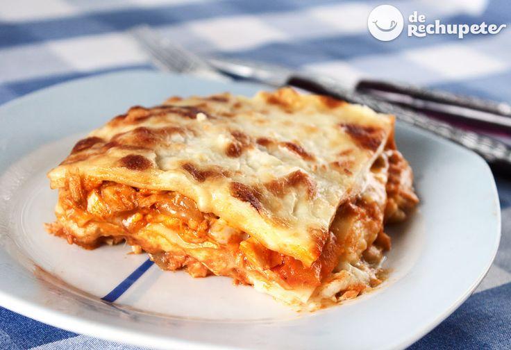 Cómo preparar una clásica, fácil y deliciosa lasaña de atún. Una receta italiana económica y nutritiva, que gusta tanto a grandes como a niños.