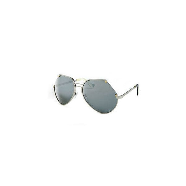 Grey Ant Embassy Cutoff Metal Sunglasses (5 620 ZAR) ❤ liked on Polyvore featuring accessories, eyewear, sunglasses, oversized sunglasses, grey ant sunglasses, metal frame glasses, lens glasses and oversized glasses