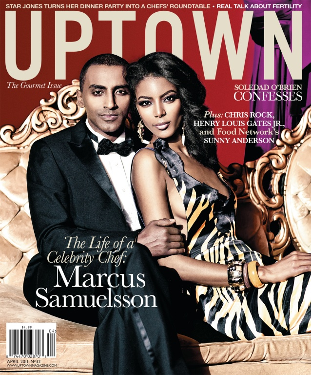 April 2011 - Renowned star chef Marcus Samuelsson, Top Chef Masters fame and model wife Maya Gate Haile, grace the cover of UPTOWN Magazine's annual Gourmet Issue.