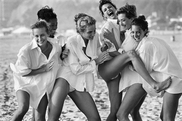Estelle Lefebure, Karen Alexander, Rachel Williams, Linda Evangelista, Tatjana Patitz and Christy Turlington by Peter Lindbergh