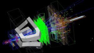 LHC: Physiker haben mögliche Erklärung für Materie-Asymmetrie - Antimaterie ist das Spiegelbild der Materie: Beide sind identisch aufgebaut, haben aber entgegengesetzte Ladungen. Ein Wasserstoffatom etwa besteht aus einem Proton und einem Elektron, ein Antiwasserstoff aus einem Antiproton und einem Positron. Treffen beide aufeinander, löschen sie sich gegenseitig aus. Eigentlich hätte also gleich nach dem Urknall alles schon wieder vorbei sein müssen.