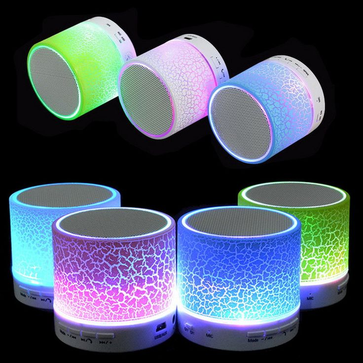 Portable Mini LED Bluetooth Speakers Wireless With Mic