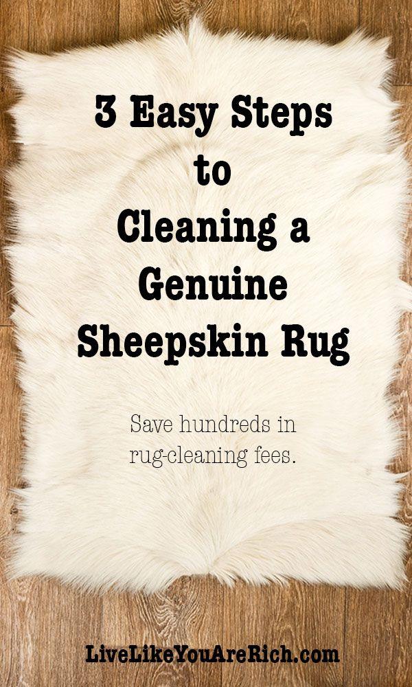 3 Easy Steps to Cleaning a Genuine Sheepskin Rug #LiveLikeYouAreRich