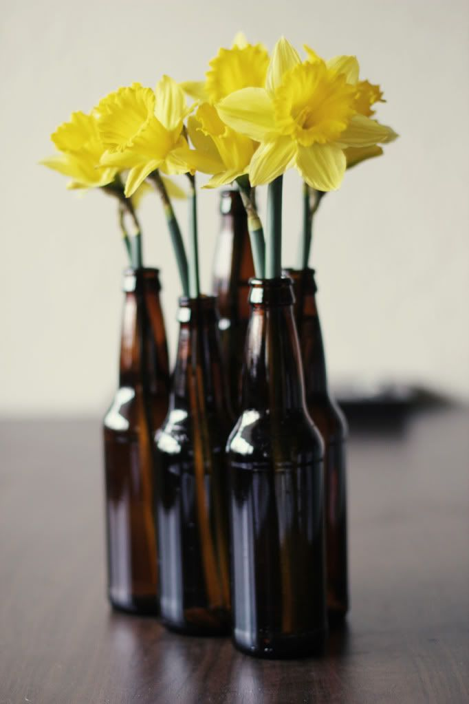 Best beer bottle centerpieces ideas on pinterest