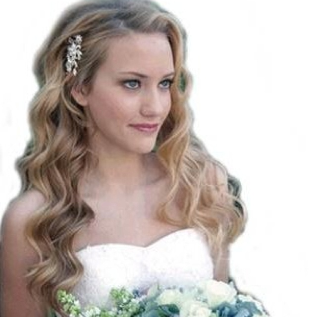 One Side Pinned Back Wedding Wedding Hairstyles For