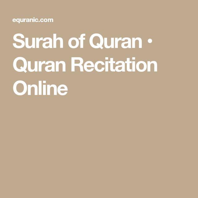 Surah of Quran • Quran Recitation Online