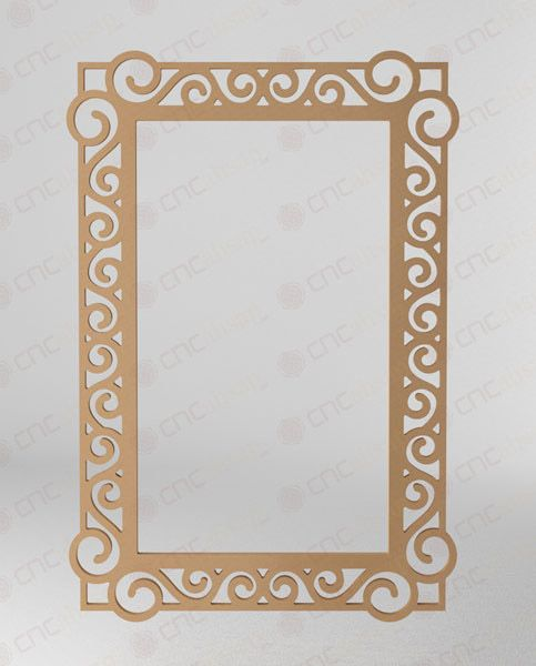 CNC KESİM DEKORATİF AYNA ÇERÇEVESİ Cnc Cutting Decorative Mirror Frame…
