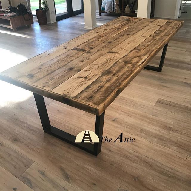 Custom Made 8 Seater Can Seat Up To 10 Industrial Modern Rustic Dining Table Rusticdecor Handmade W Rustic Dining Table Rustic Dining Set Rustic Dining