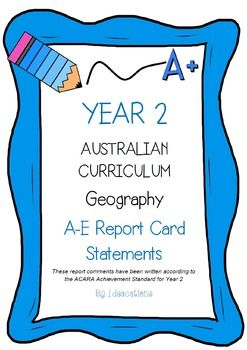 * Now UPDATED to align with V8.1 of the Australian Curriculum*Report card writing has never been easier! Save time and be confident that your comments are well written and designed to align to the Australian Curriculum Achievement Standards. This file contains 55 A - E report card comments for Year 2 History.Suitable for all states and territories, my comments are currently being used in over 600 Queensland schools.Available in Word format for easy cutting and pasting into documents.Find…