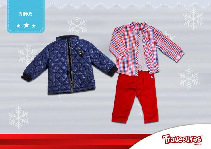 Colección fin de año 2015 - Chaqueta, camisa y pantalón niño. Más información en www.travesuras.com.co