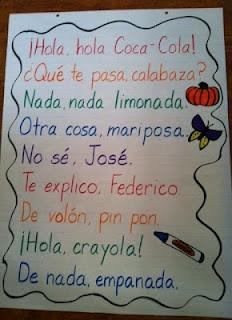 Spanish Rhyming Phrases