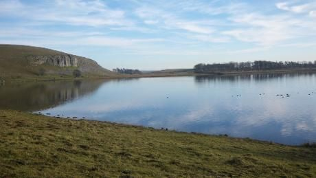 A chilly but beautifully still day at Malham Tarn © National Trust