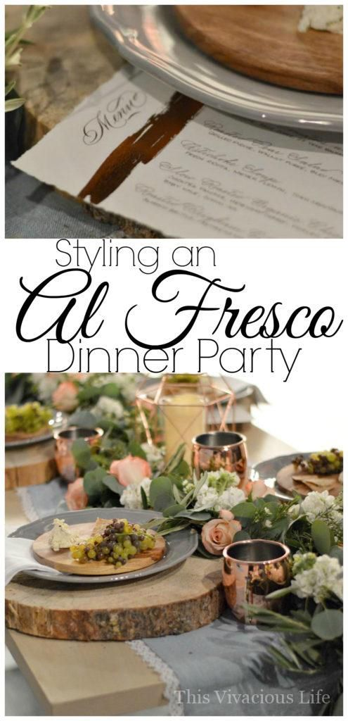 Setting up an al fresco dinner party really is so easy with just a few pops of WOW! From individual cheese plates to geode cookies and fabulous flowers, we will show you how to create the most gorgeous dinner party, without breaking the bank! | dinner party ideas | how to host an al fresco dinner party | al fresco themed dinner party | dinner party ideas || This Vivacious Life