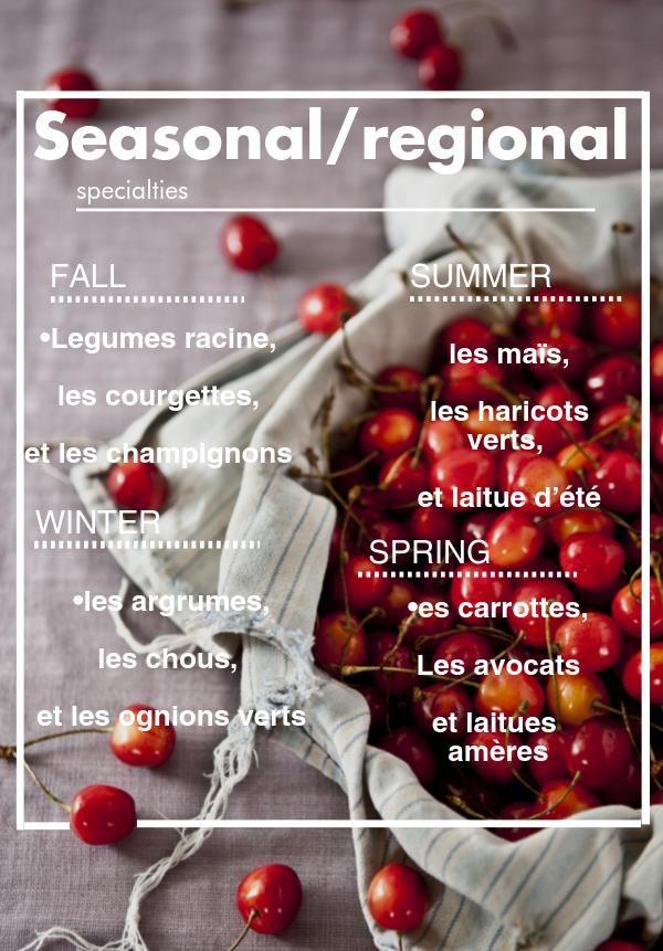 Seasonal/ Regional specialties | @Piktochart Infographic