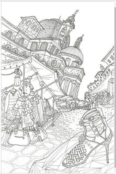 A BELLA ITALIA MADE IN KOREATOP QUALITYColoring Book For Children Adult Graffiti Painting Drawing Like
