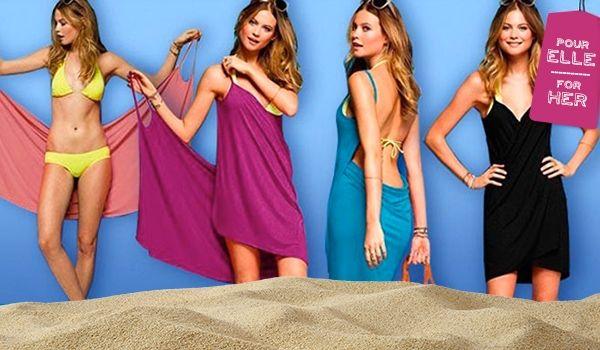 14.95$ (taxes et livraison incluses) pour une robe portefeuille/bikini wrap sexy pour l'été, cinq coloris au choix (comparé à 49$ avec livraison)