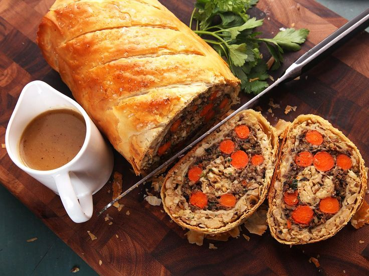 Vegetables Wellington (The Ultimate Vegan Plant-Based Holiday Roast). Made Just Right. Plant Based. Earth Balance.