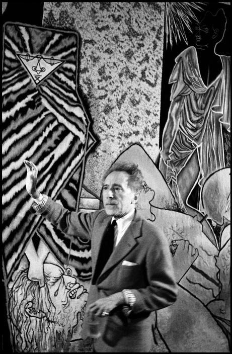 Jean Cocteau   Inge Morath 1958