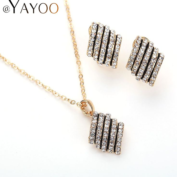 Fashion Plant Pendant Necklaces African Beads Imitation Crystal Stud Earrings Jewelry Sets For Women Wedding Dress Accessories