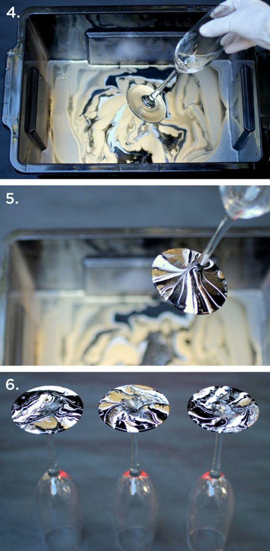 schwarzer eimer wasser farbe nagellack handschuhe glas sektglas first home diy. Black Bedroom Furniture Sets. Home Design Ideas