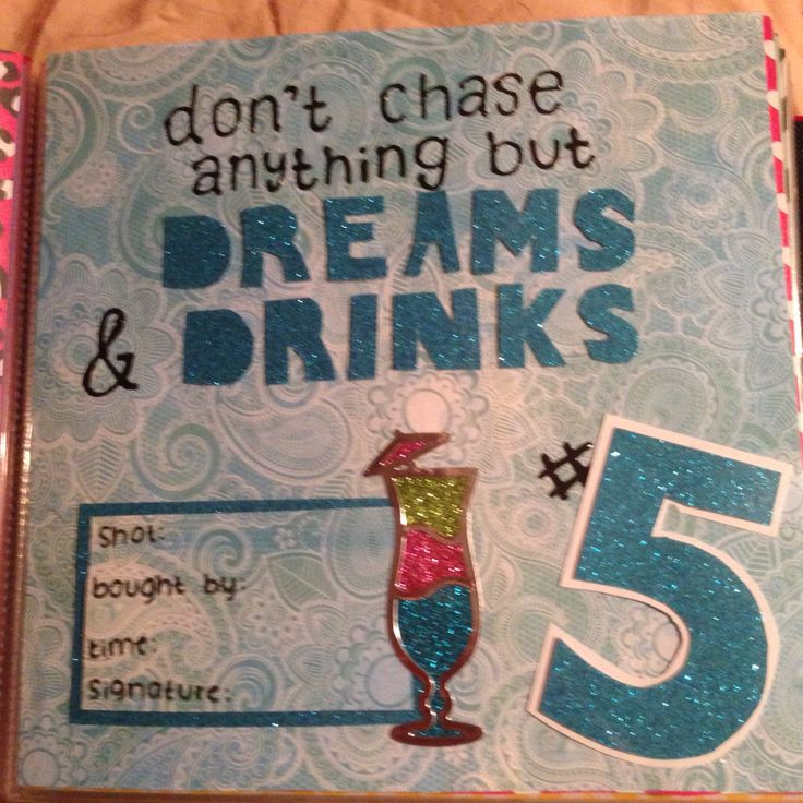 96 Best Images About 21st Birthday Shot Book On Pinterest