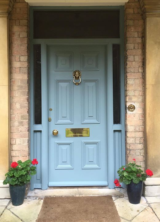 Farrow and Ball Oval Room Blue front door: Click through for Farrow and Ball's Top 15 Panted Front Doors on Modern Country Style