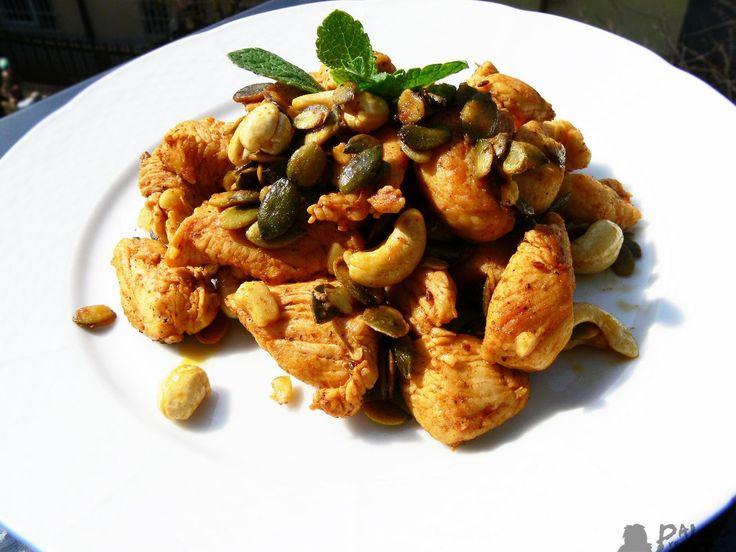 Kuřecí kousky s kešu ořechy a tykvovými semínky - Powered by @ultimaterecipe