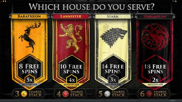 Which house do you serve? Log in to play #GOT at the casino for a chance at big wins!