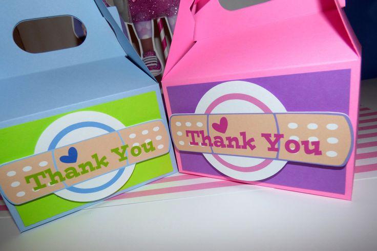 Doc Mcstuffins Favor Boxes - Stuffy Favor Boxes - Doc Mcstuffins Birthday Favor Bags - Doctors Bag by PishPoshPartique on Etsy https://www.etsy.com/listing/220732529/doc-mcstuffins-favor-boxes-stuffy-favor