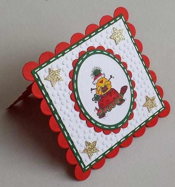 Penny Black, Spellbinders,  Weihnachten, Shaped Cards