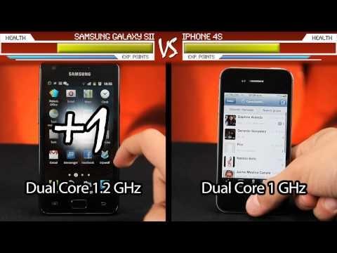 Apple iPhone 4S vs. Samsung Galaxy SII - Un duelo muy geek.