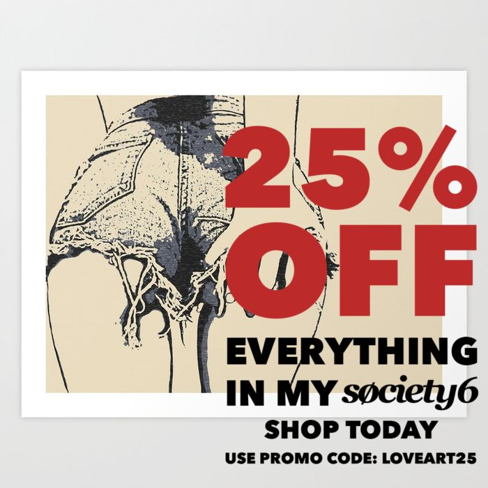Yup it's live again! Sharing with you #news about #hot #society6 #promo day! Thats right insane 25% OFF all orders! Visit https://society6.com/hmdesignspl and see our new works! Or pick from HUGE selection of well known! Best place for #art #prints #sexy #artworks #illustration, clothing and #design or #homedecor. See you there! Grab that #sale