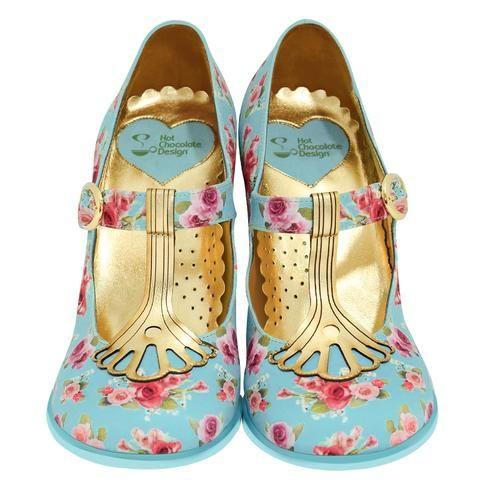 """Emma"" Double Topping High Heels Chocolaticas #HotChocolateDesign #Chocolaticas #Women #MaryJane #flats #vintage #shoes #USA #amazon #heels #pinup #pumps"