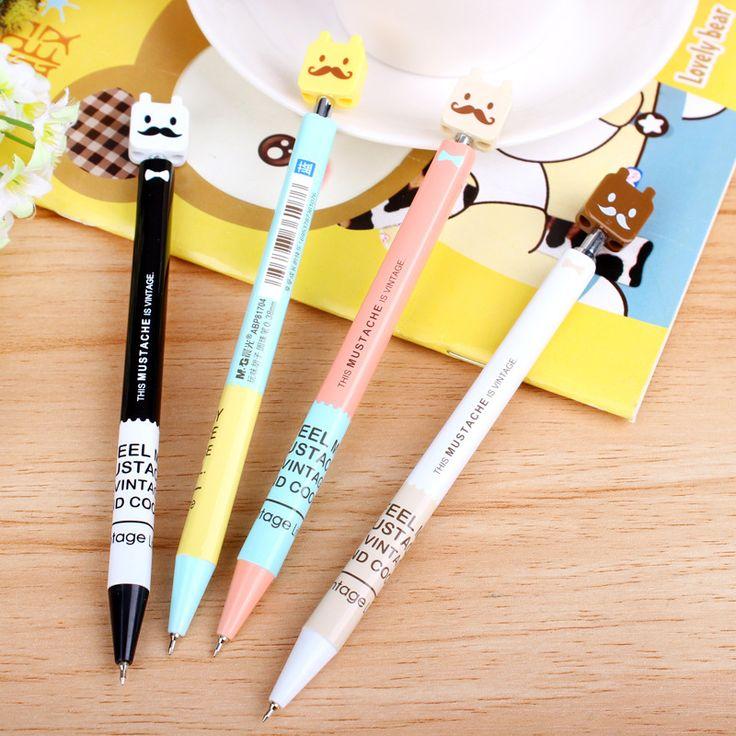 0.38 мм голубой милый каваи шариковая ручка для письма школьных принадлежностей офисных принадлежностей стационарные для детей студент подарок купить на AliExpress